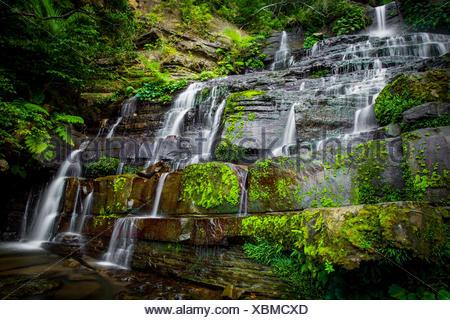 Waterfalls over rocks, Okinawa, Japan - Stock Photo