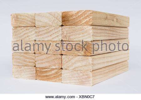 Washington State USA sawn prepared timber spruce wood planks or studs - Stock Photo
