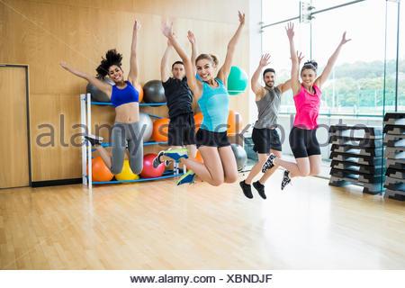 Fitness class in the studio - Stock Photo