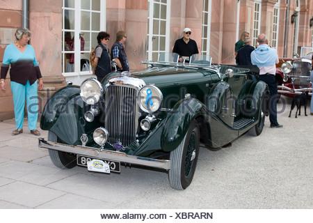 Lagonda LG 45, vintage car meeting, Schwetzingen, Baden-Wuerttemberg, Germany - Stock Photo