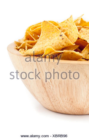 Bowl of crisps - Stock Photo