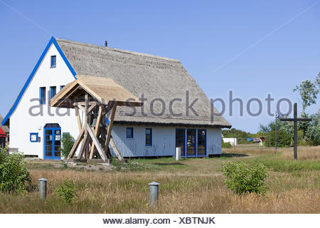 Neuendorf Church on Hiddensee island - Stock Photo