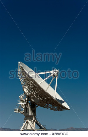 national, radio, astronomy, observatory, very large array, VLA, Socorro, New Mexico, USA, United States, America, satellite rang - Stock Photo