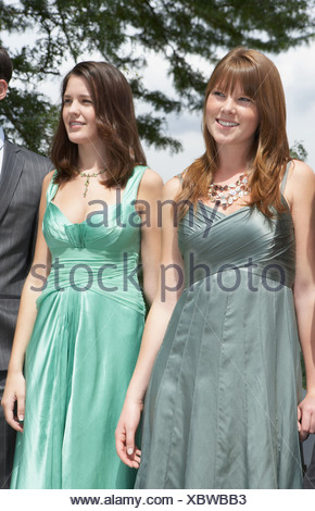 Sisters at a wedding - Stock Photo