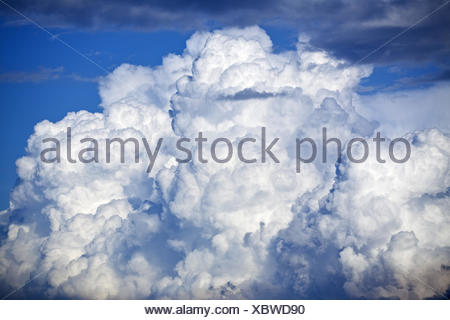big thunder cloud and blue sky - Stock Photo