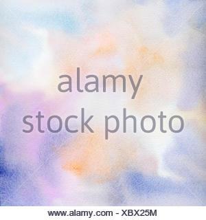 aquarell abstrakt textur cyan violett orange hell - Stock Photo