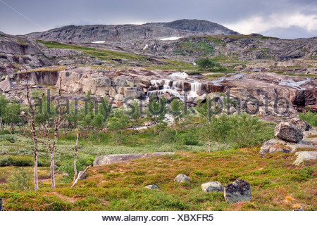 Mountainscape, Rago National Park, Nordland county, Norway, Scandinavia, Europe - Stock Photo