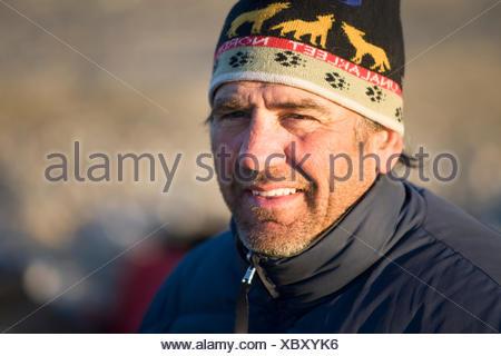 Camper,Happiness,Portrait,Sunshine,Toque - Stock Photo