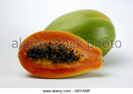 papaya tree melon carica papaya origin central america cutted stock photo 68667209 alamy. Black Bedroom Furniture Sets. Home Design Ideas