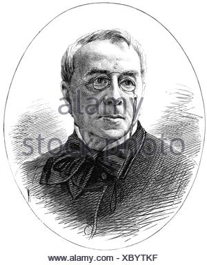 Girardin, Emile de, 22.6.1806 - 27.4.1881, French publicist, journalist, portrait, wood engraving, published in 1881, Additional-Rights-Clearances-NA - Stock Photo