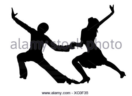 two children, tango dancers passion on the floor - Stock Photo