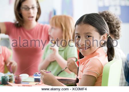 Children in a lesson - Stock Photo