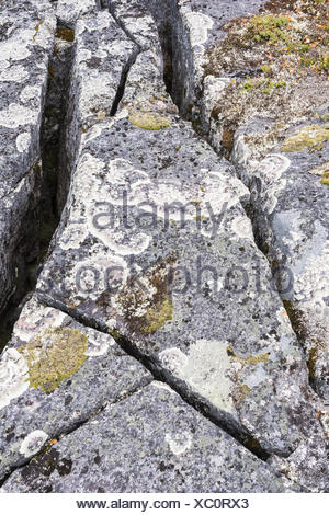 crevices, Lapland, Sweden - Stock Photo
