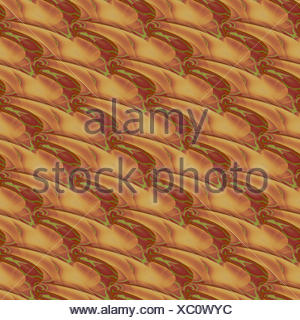 Abstract geometric seamless background. Wavy lines in brown shades with bright green elements diagonally, modern and vividly. - Stock Photo
