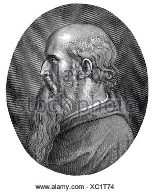 Bembo, Pietro, 20.5.1470 - 18.1.1547, Italian clergyman and humanist, bishop of Gubbio 1541 - 1544, portrait, copper engraving of Beceni, 18th century, Artist's Copyright has not to be cleared - Stock Photo