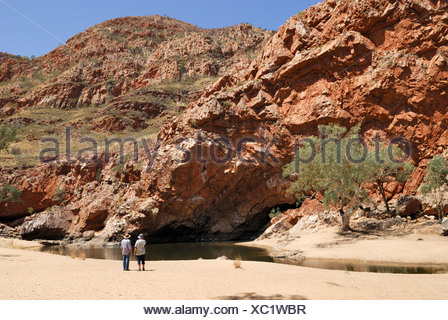 Orniston Gorge, West Macdonnell Ranges, Northern Territory, Australia - Stock Photo