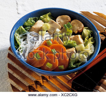 Japanese hot pot, Japan, recipe available for a fee - Stock Photo