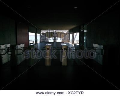 Turnstile Gates At Subway Station - Stock Photo