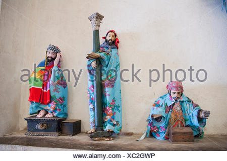 The Dressed Statues Of The Saints In The Santiago Ap - Stock Photo