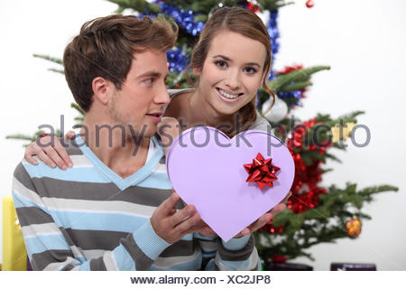 beautiful, beauteously, nice, brother, charming, box, boxes, delighted, - Stock Photo