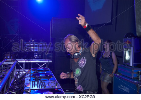 Techno Nature One Festival 2009, DJ Sven Vaeth, Kastellaun, Rhineland-Palatinate, Germany, Europe - Stock Photo