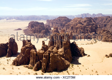 Deep in the Ennedi Mountains of northeastern Chad. - Stock Photo