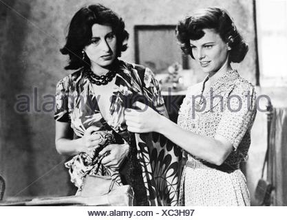 movie, 'Volcano' (Vulcano), ITA 1950, director: William Dieterle, scene with: Geraldine Brooks, Anna Magnani, , Third-Party-Permissions-Neccessary - Stock Photo