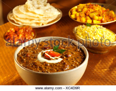 INDIAN LENTIL MAKANI DAL - Stock Photo