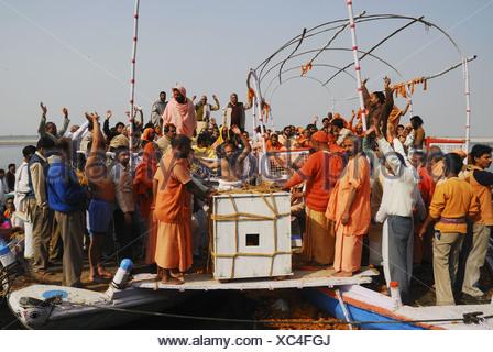 Funeral of Sadhu, India - Stock Photo