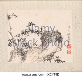 Miniature landscapes. Artist: Zhang Zongcang (Chinese, 1686-1756); Period: Qing dynasty (1644-1911); Date: datable to 1751-54; Culture: China; - Stock Photo