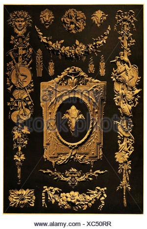XVIII. Century metal Fittings - Stock Photo