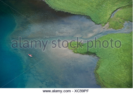 Seealpsee lake, Alpstein, Appenzell, Switzerland, Europe - Stock Photo