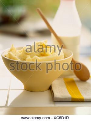 Traditional homemade mashed potatoes - Stock Photo