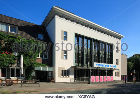 Germany, Europe, Oberhausen, Ruhr area, Lower Rhine, Rhineland, North Rhine-Westphalia, theater, - Stock Photo