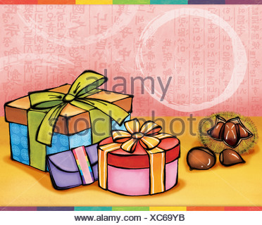 Chuseok greetings - Stock Photo