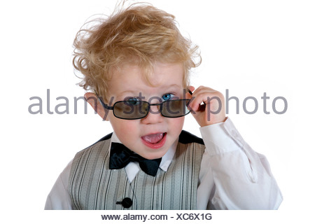 Little manager with sunglasses - Stock Photo