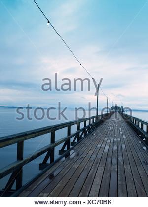 A boardwalk in Dalarna Sweden. - Stock Photo