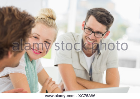 Closeup of a group of casual people - Stock Photo