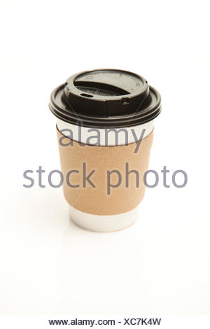 Disposable tea or coffee cup - Stock Photo