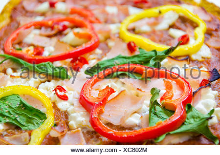 Pizza toppings - Stock Photo