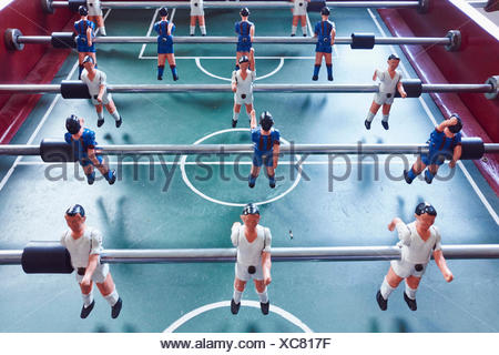 Table football, elevated view - Stock Photo