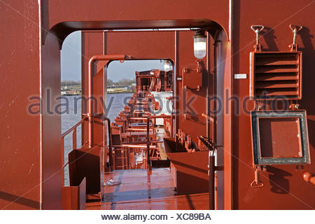 Shipyard, newly constructed ship, constructions, - Stock Photo