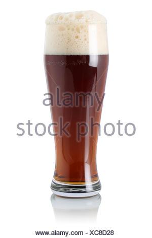 Englisches Bier im Glas mit Schaumkrone - Stock Photo