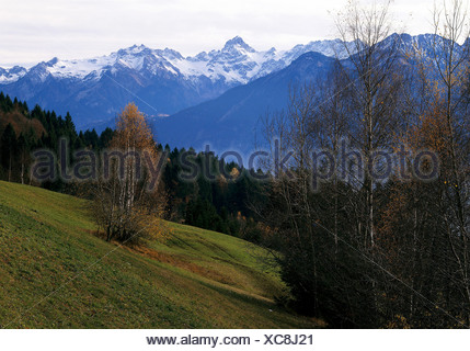 geography / travel, Austria, Vorarlberg, landscapes, Zimba, view from the Dünserberg, Additional-Rights-Clearance-Info-Not-Available - Stock Photo