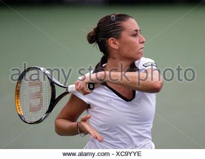 Flavia Pennetta, ITA, Grand Slam Tournament, US Open 2008, USTA Billie Jean National Tennis Center, New York, USA - Stock Photo