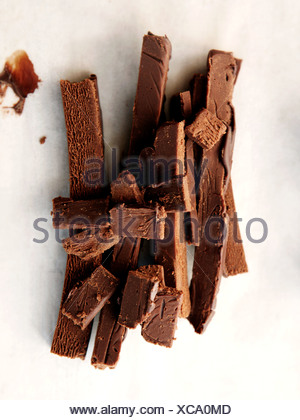 Chocolate ganache - Stock Photo