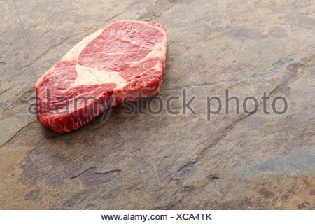 aged ribeye steak - Stock Photo