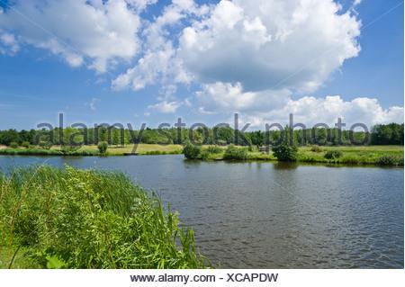 Lake Wallsee near the Wallmuseum, Oldenburg in Holstein, Baltic Sea, Schleswig-Holstein - Stock Photo
