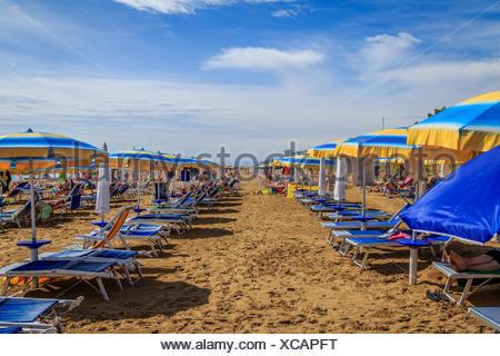 Beach in Lignano - Italy - Stock Photo