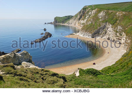 Coastal formation, Man O'War Cove, Lulworth, Dorset, southern England, England, United Kingdom, Europe - Stock Photo
